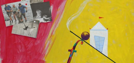 PABLO SYCET. TIPOS MÓVILES. En la casa del señor, 2015.Técnica mixta sobre cartón. 91 x 61 cm e_b